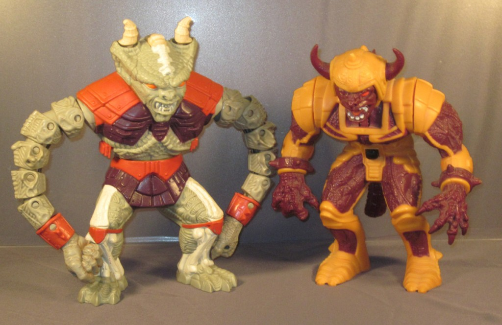 (left to right) Crackarm, Hammertail...and that's it! The complete set of Battle Brawlers!