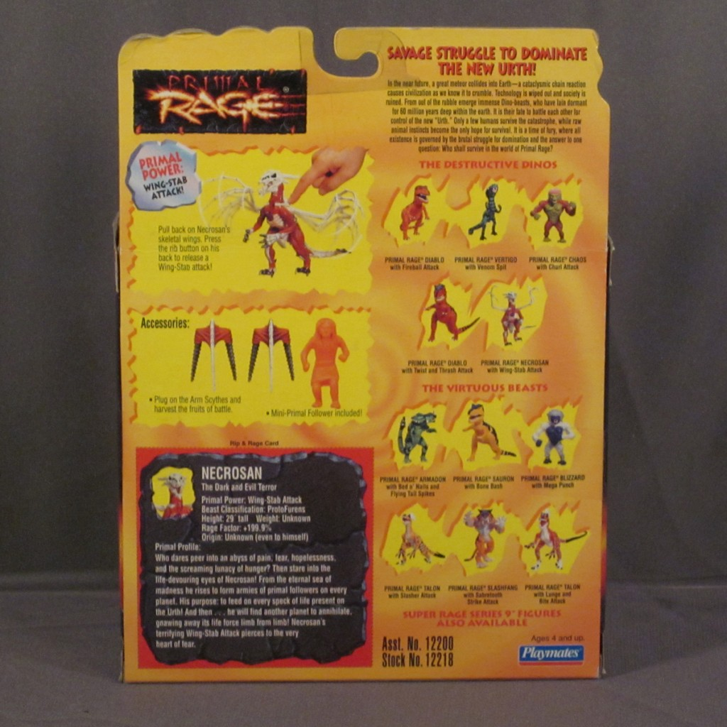 Here's a look at the back of the package showing Necrosan, Slash Fang, and some of the other repainted Series 2 figures.